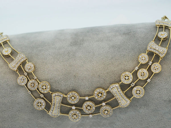 14k Yellow Gold 1.25ctw. Diamond Necklace