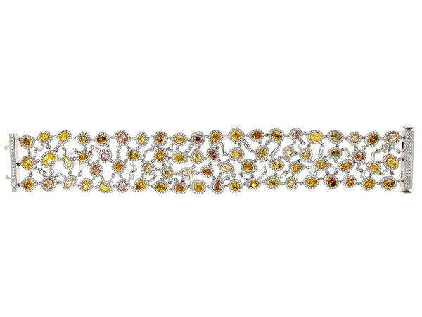 18kw Diamond 5.34 Yellow Diamond 10.71 Bracelet