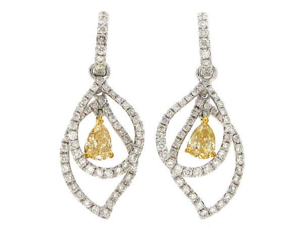 185yw Diamond 0.70 Yellow Diamond 0.50 Earring
