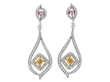 18kwy Diamond 1.00 Yellow Diamond 1.01 Earring
