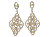 18kwy Diamond 1.14 Yellow Diamon d1.21 Earring