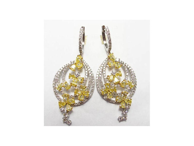 18kw Diamond 2.33 YD 3.87 Earring
