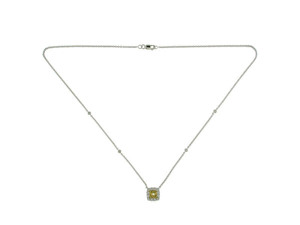 18kyw Diamond 0.63 YD 1.04 (Not Shown) Necklace