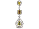 18kwy Diamond 0.39 Yellow Diamond 0.50 Pendant With Chain