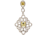 18kw Diamond 0.81 Yellow Diamond 0.55 Pendant W/ Chain