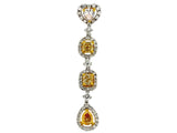 18kw Diamond 0.45 Fashion Color Yellow Diamond 1.01 Pendant With Chain
