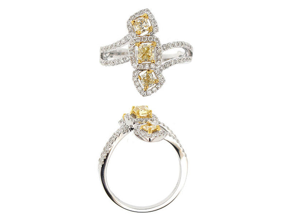 18kw Diamond 0.56 Fashion Diamond 0.62 Ring