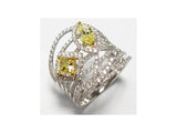 18kw Diamond 1.07 Yellow Diamond 0.89 Ring