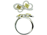 18kwy Diamond 0.40 Yellow Diamond 0.63 Ring