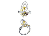 18kby Diamond 0.63 Yellow Diamond 0.96 Ring