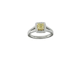 18kw Diamond 0.39 Yellow Diamond 0.81 Ring