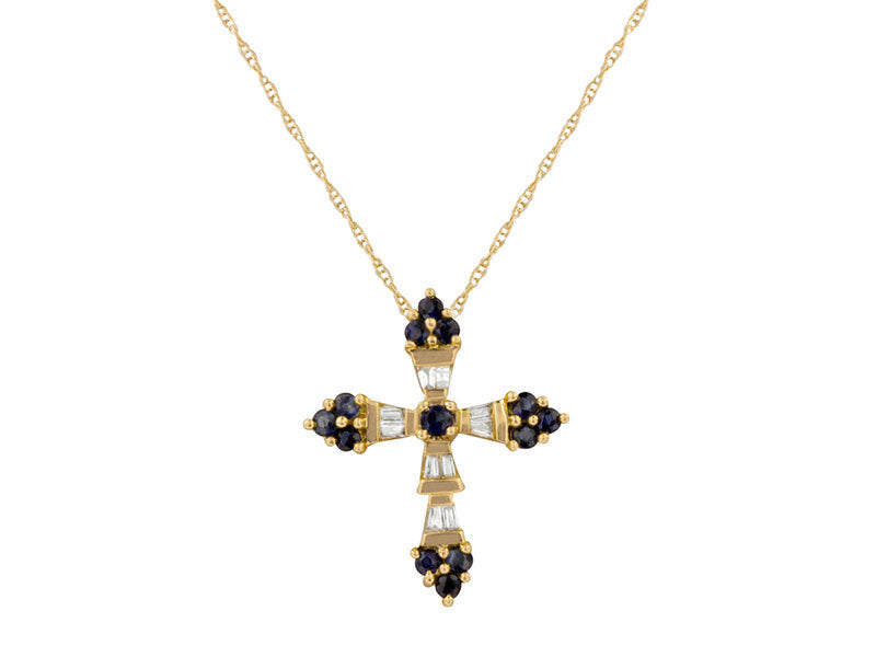 14k Yellow Gold 0.35ctw. Diamond Pendant With Chain