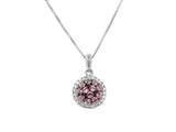 10k White Gold 0.10ctw. Diamond Pendant