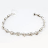 14K white Gold Diamonds Dazzling Twist Bracelet