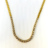 Fancy 14 K Yellow Gold Diamond Necklace