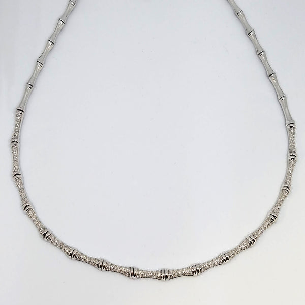 Platinum Station Diamond Hint Necklace