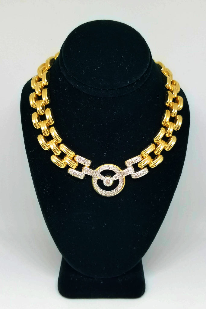 14 K Yellow Gold Diamond Link Up Necklace