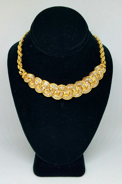 18K Yellow Gold Diamond Intertwine Necklace