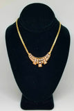 14K Yellow Gold Swinging Diamond Necklace