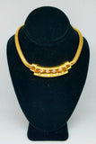 18K Yellow Gold Diamond Solid Bold Necklace