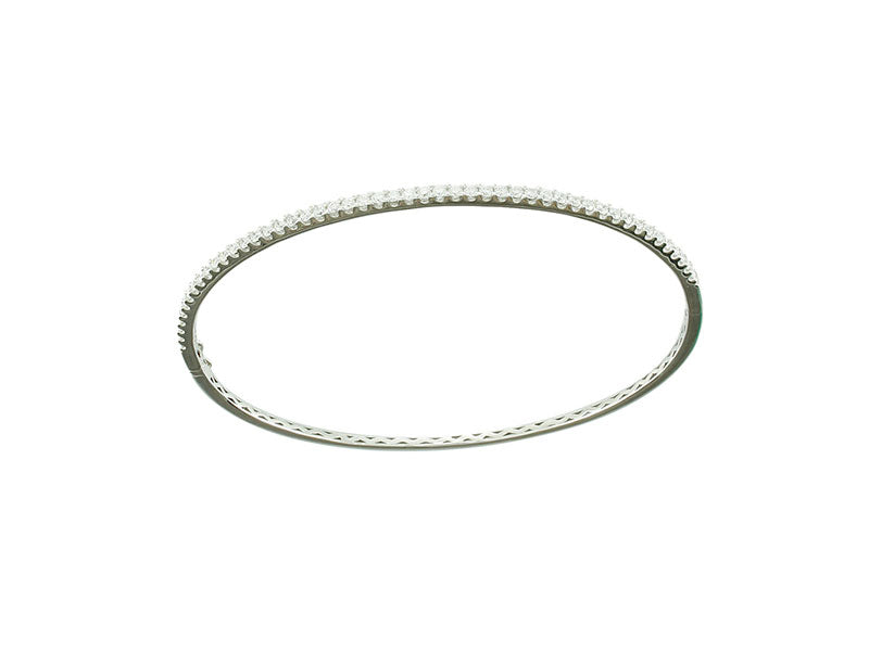 18k White Diamond Bangle 0.62ctw.