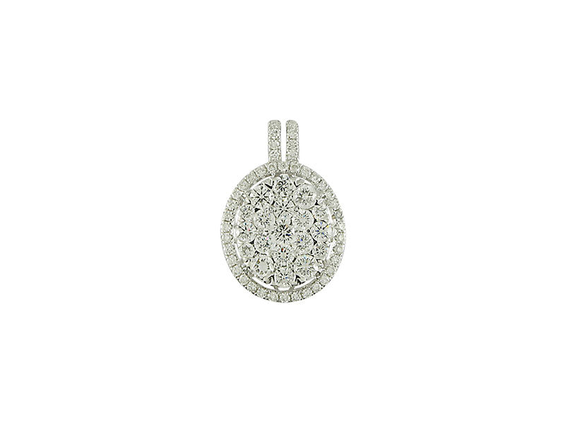 18k White Gold 1.50ctw. Diamond Pendant