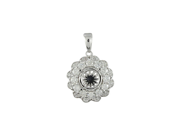 18k White Gold 0.81ctw. Diamond Pendant