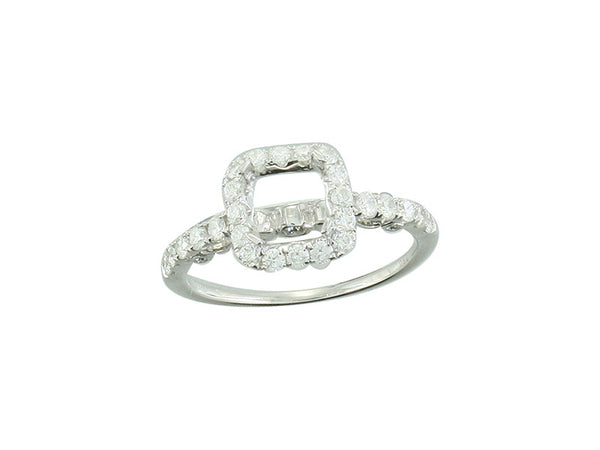 18k White Gold 0.63ctw. Semi Mount Diamond Ring