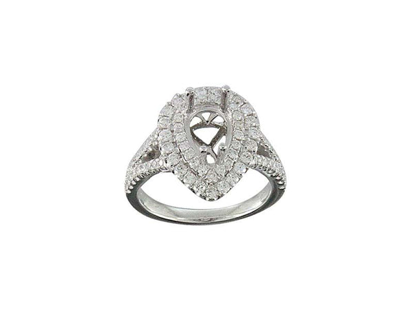18k White Gold 0.77ctw. Semi Mount Diamond Ring
