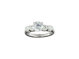 18k White Gold 0.81ctw. Semi Mount Diamond Ring