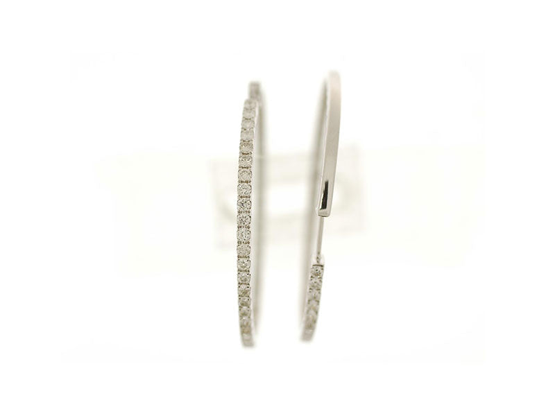 18K White Gold Diamond Earrings 2.52ctw