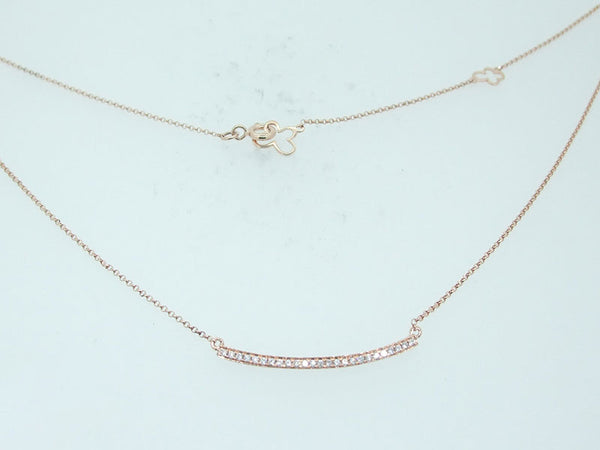 18k Rose Gold 0.15ctw. Diamond Necklace