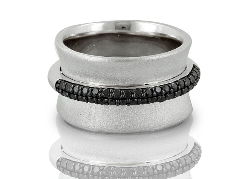 Sterling Silver 0.50ctw. Black Diamond Ring