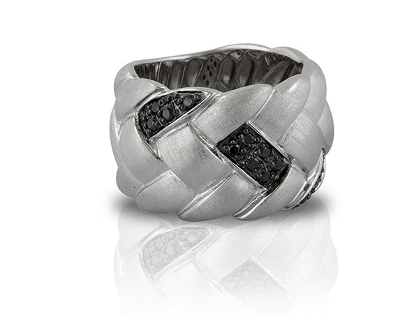 Sterling Silver 0.25ctw. Black Diamond Ring