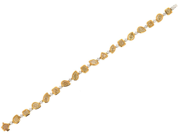18k White Diamond Bracelet 11.1ctw.