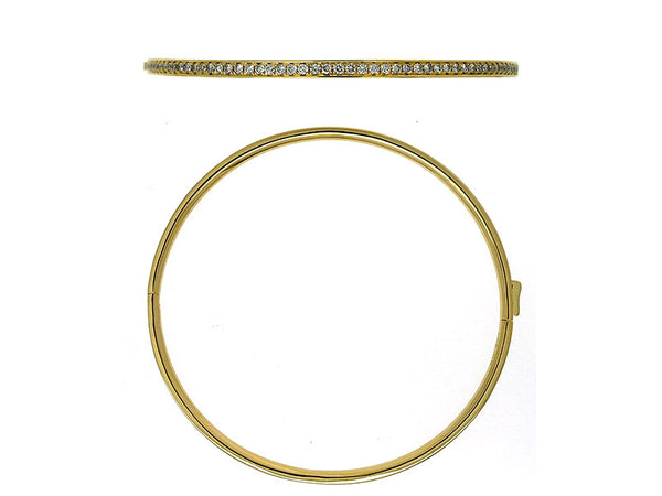 18k Yellow Diamond Bangle 1.91ctw.