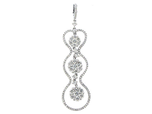 18k White Gold 1.68ctw. Diamond Pendant With Chain