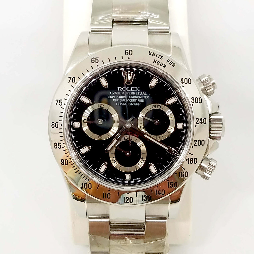 Pre-Owned Rolex Daytona Black Face Superlative Chronometer Watch