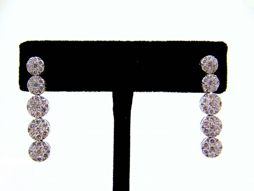 18kw Diamond 2.79 Hanging Earring