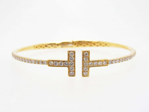18ky Diamond 1.10 Bangle