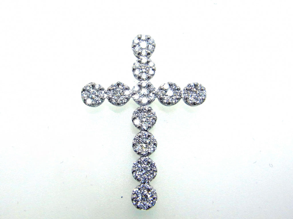 18kw Diamond 1.36 Cross Pendant