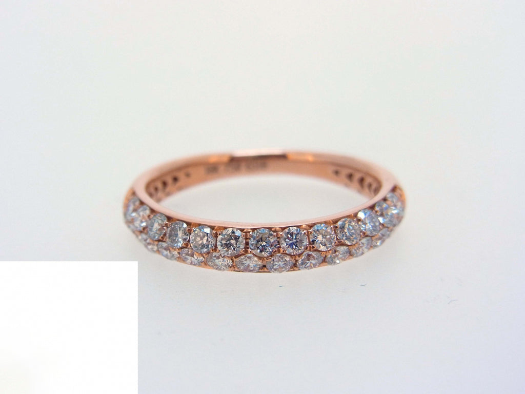 18ky Diamond 0.80 Half Way Ring Band