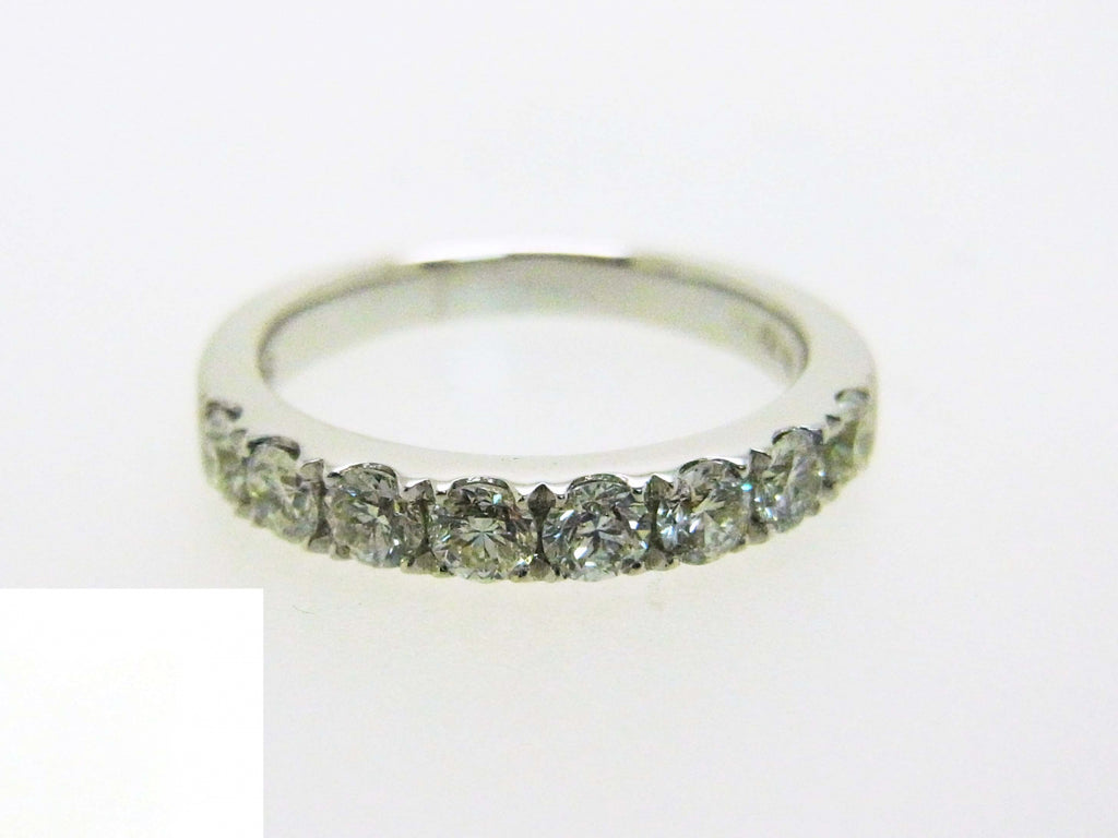 18kw Diamond 0.76 Half Way Ring Band