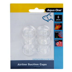 Aqua One Airline Tubing Suction Cups 6pk