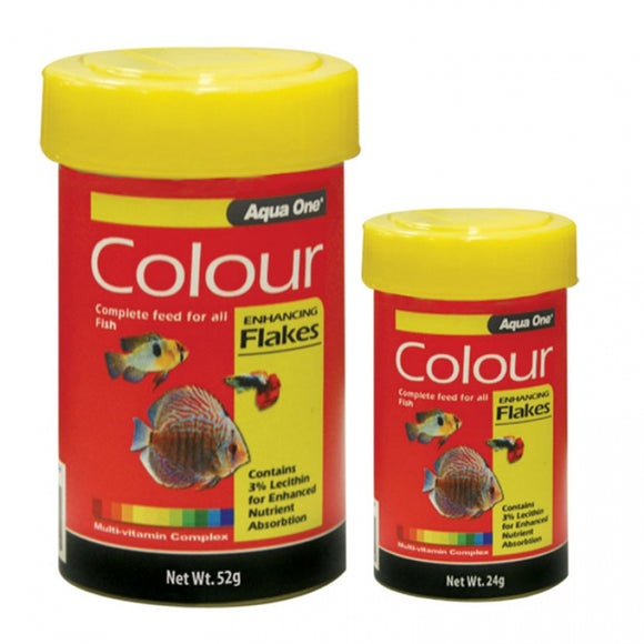 Aqua One Colour Enhancing Fish Flake Food 24gm