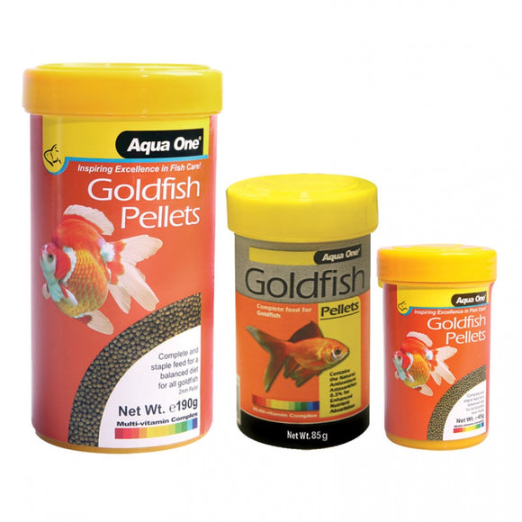 Aqua One Goldfish Pellet Fish Food 2mm 190gm
