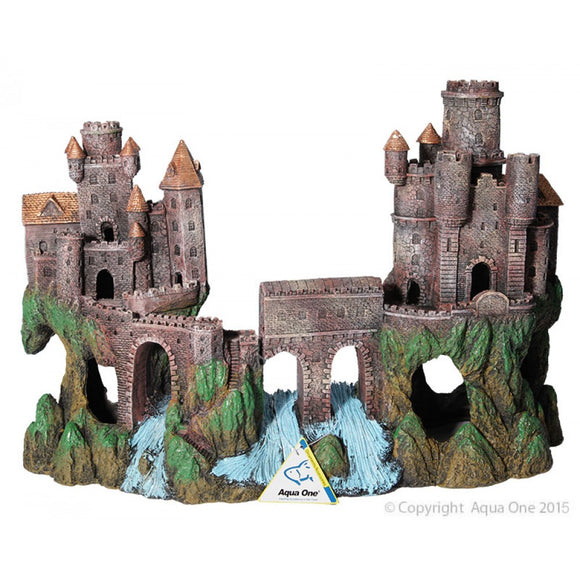 Aqua one Medieval Castle with River ornament