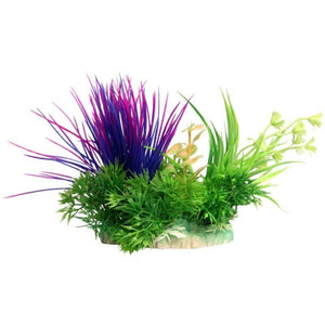 Aqua one Small Blyxa Purple Artificial Aquarium Plant 10cm Tall