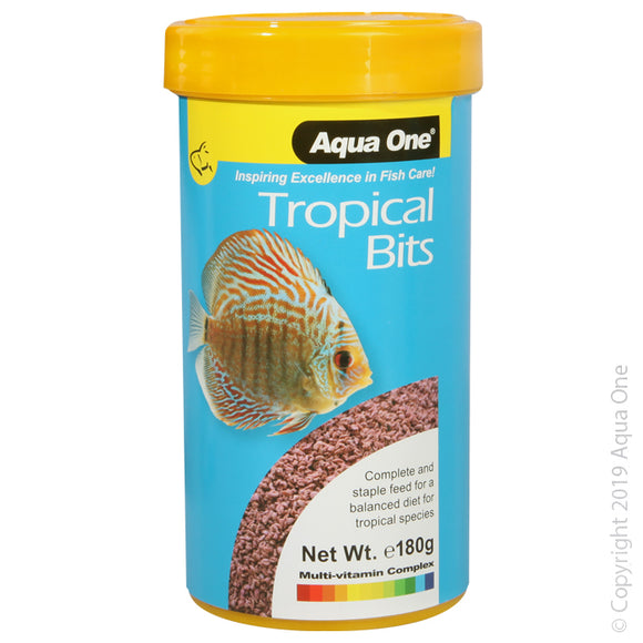 Aqua One Tropical Bits 180gm  -  Slow Sinking !!