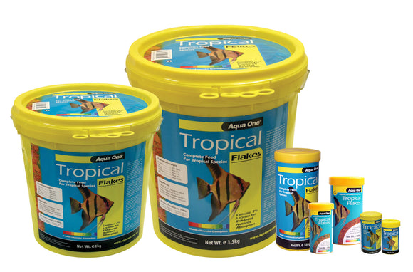 Aqua One Tropical Fish Flake Food 1kg Bucket